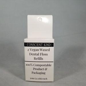 Zero-Waste Vegan Waxed Dental Floss Refills Mint